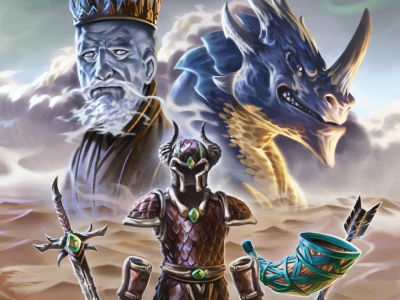 Frost giant and blue dragon cover for Dragon Relics campaign by JVC Perry